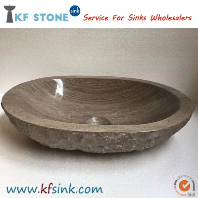 Coffee Wooden Marble Sink Bowl Wholesale