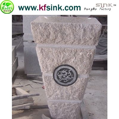 G682 Pedestal Granite Sink Bowl
