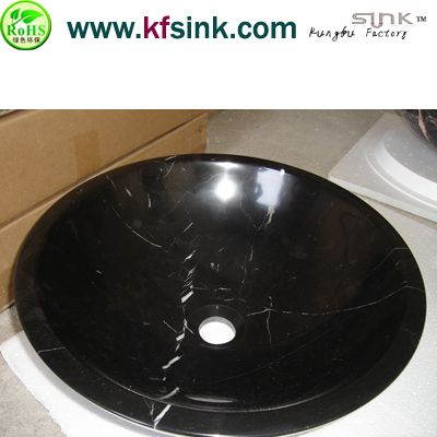 Nero Marquina Marble Sink