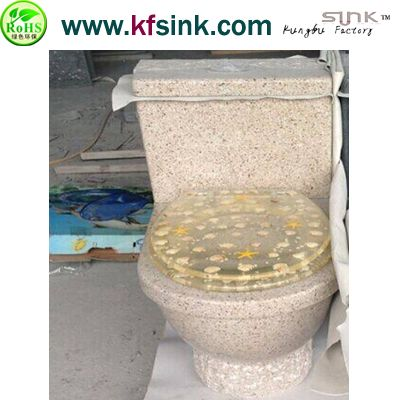 Yellow Granite Toilet For Bathroom