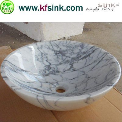 Round Italy Marble Sink Bowl