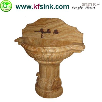 Bathroom Onyx Pedestal Stone Sink