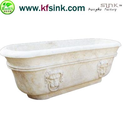 Freestanding Travertine Stone Bathtub