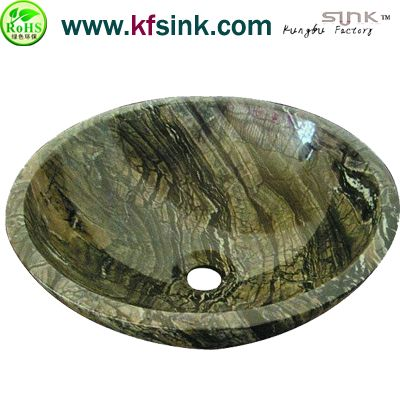 Olive Green Marble Kitchen Sink