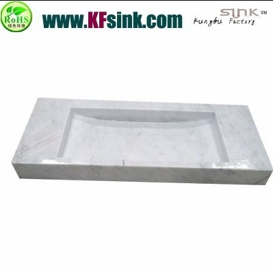 Carrara White Marble Sink For Vanity