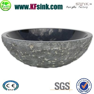 Absolute Black Stone Sink Bowl