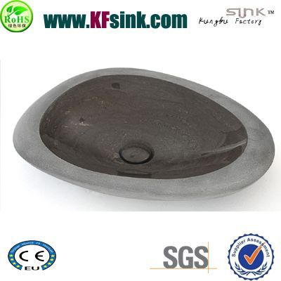 Shell Pattern Dark Grey Stone Sink