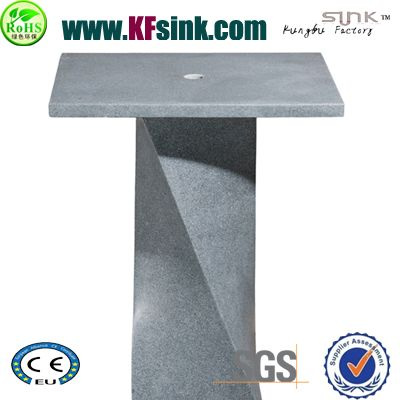 G654 Grey Granite Stone Pedestal Sink