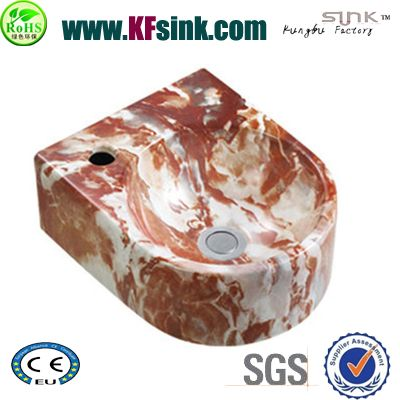 Red Marble Bathroom Sink Bowl