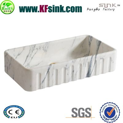 White Marble Sink For Kitchen Top