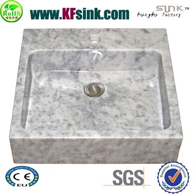 Bianco White Marble Bathroom Sink
