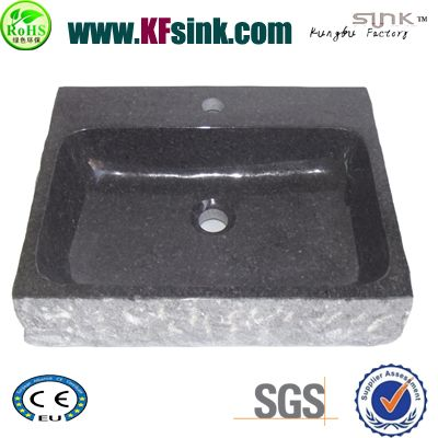 Black Granite Wash Basin Bath
