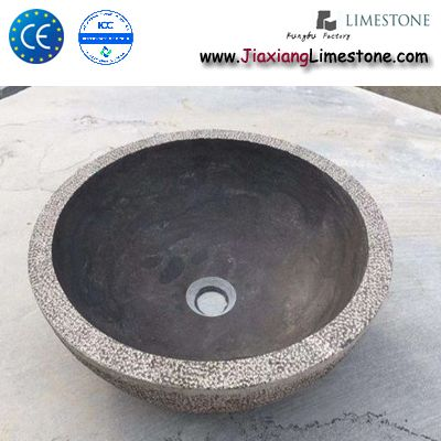 L828 Blue Limestone Sink Bowl