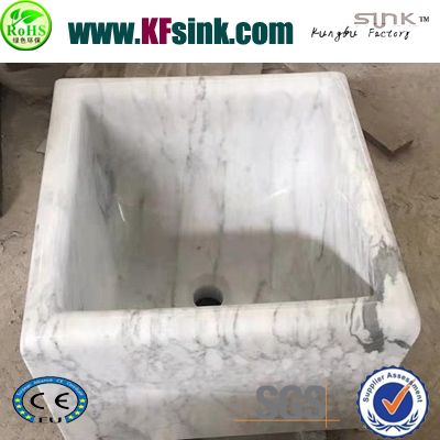 Deep White Marble Sinks