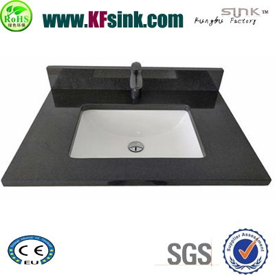China Black Granite Vanity Top